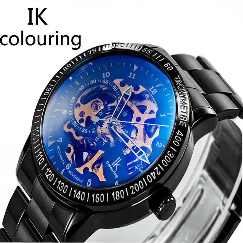 Original IK Colouring Top Brand Men High Quality Automatic Stainless Steel Military Watches Male Mechanical Skeleton WatchesOriginal IK Colouring Top Brand Men High Quality Automatic Stainless Steel Military Watches Male Mechanical Skeleton Watches