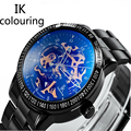 Original IK Colouring Top Brand Men High Quality Automatic Stainless Steel Military Watches Male Mechanical Skeleton Watches