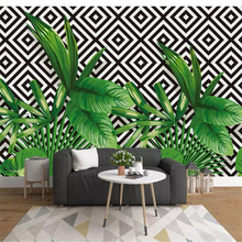beibehang  wall papers home decor Custom wallpaper Stereo plant geometric mosaic TV background papier peint paper