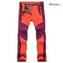 2017 Winter New Thick Warm Fleece Soft shell Pants Windproof Waterproof Warm Army Military Cargo Pants Outwear Trousers