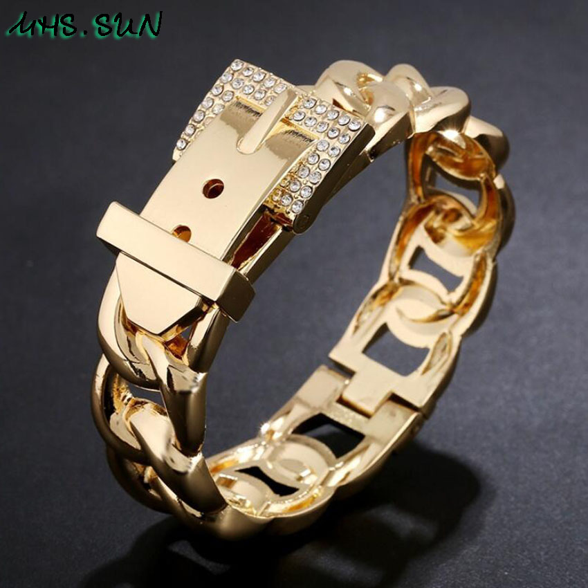 6-1Baroque Women Fashion Bangle Exaggerated Design Girls Ladies European Style Bangle Bracelets Personality Jewelry Gift
