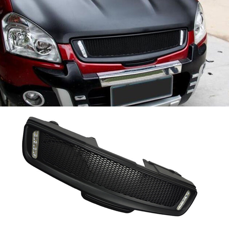front grill grille modified parts with lamp for nissan. Black Bedroom Furniture Sets. Home Design Ideas