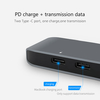 card reader USB C Type-C HUB to 4K HDMI Adapter with Thunderbolt 3 /USB 3.0 /TF SD Card Reader Slot Support PD Charging for MacBook Pro 2017 (3)