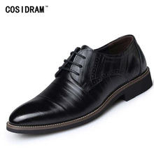 2017 Oxford Shoes For Men Formal Shoes Genuine Leather Office Dress Shoes Men Flats Zapatos Hombre Black Oxfords Male BRM-276