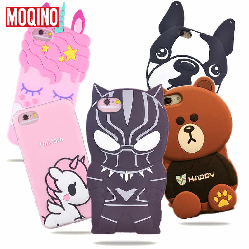 For iPhone X Xs Xs Max XR 5 5s SE 6 6s 7 8 7Plus 8Plus Unicorn Cactus Cat Dog Bottle Boys Tears Ice Cream Silicone Cases Cover
