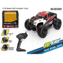 High Speed RC Off-Road Racing Car HS18301/HS18302 1/18 2.4GHz 4WD 36km/h Truck Buggy RC Vehicle for Kids Toy Gift