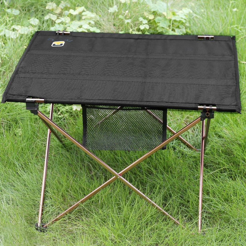 Outdoor Portable Folding Aluminium Alloy Roll Up Table Waterproof Lightweight Desk For Picnic Camping Picnic With Carrying Bag aluminum alloy portable outdoor tables garden folding desk with waterproof oxford cloth
