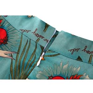 Image 5 - Damska plisowana czarna spódnica rozkloszowana średniej długości Runway Vintage Sundress Pinup 50s 60s bawełna wysokiej talii szkoła codzienna Skater Rockabilly