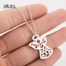 SMJEL Fashion Angel Pendant Necklace Eco Material Alloy Beads Boho Chain Necklace Collier Women Girls Jewelry Friend Gifts 2019(China)