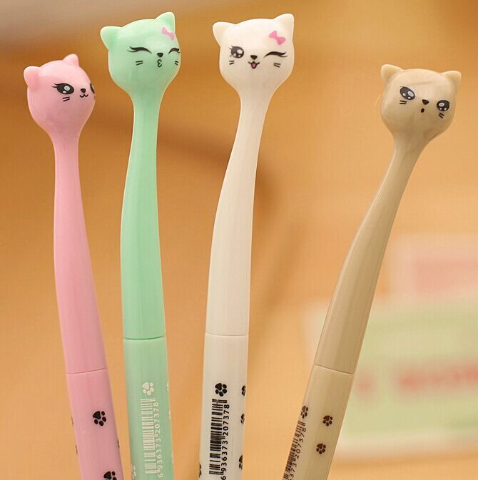 Creative Stationery Caneta Cute Cartoon Cat Pens Black ink Student Prizes Gel Pens Kawaii Penne School Supplies