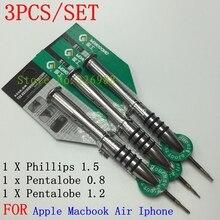 New Professional Repair Tools call phone screw driver 5 star Pentalobe 1.2/0.8 Screwdriver For iphone Apple Macbook Air