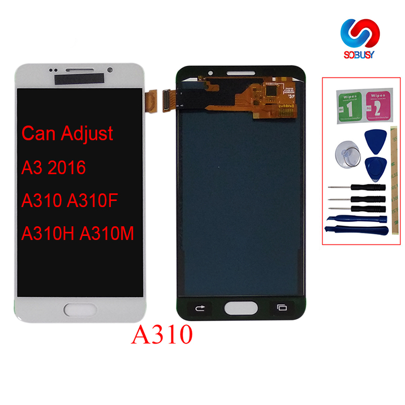 For Samsung Galaxy A3 2016 A310 A310F A310H A310M LCD Brightness Adjustbale LCD Tested Display Digitizer Touch Screen AssemblyFor Samsung Galaxy A3 2016 A310 A310F A310H A310M LCD Brightness Adjustbale LCD Tested Display Digitizer Touch Screen Assembly