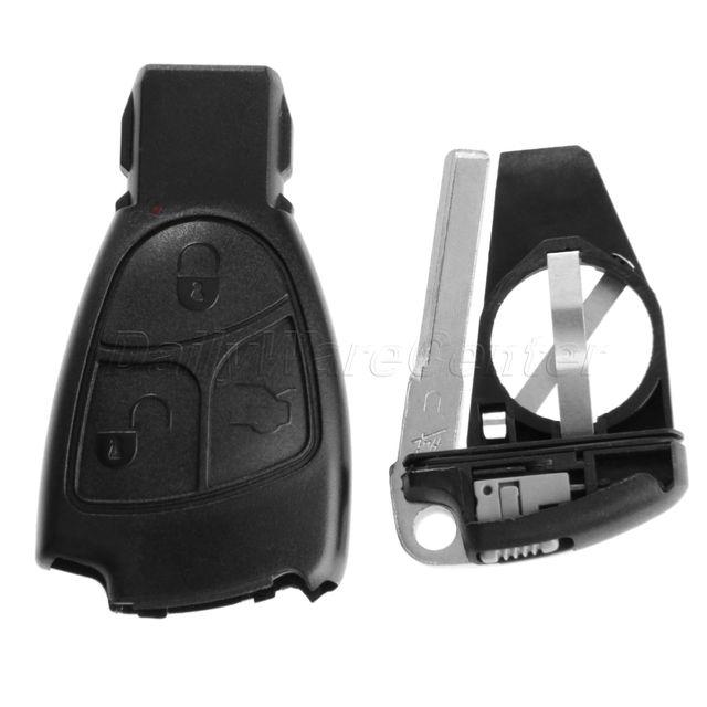 3 Knop Vervangende Afstandsbediening Smart Insert Key Flip Fob Case Shell Houder Voor MERCEDES BENZ B S CLS CLK ML SLK CL Ongesneden Blade