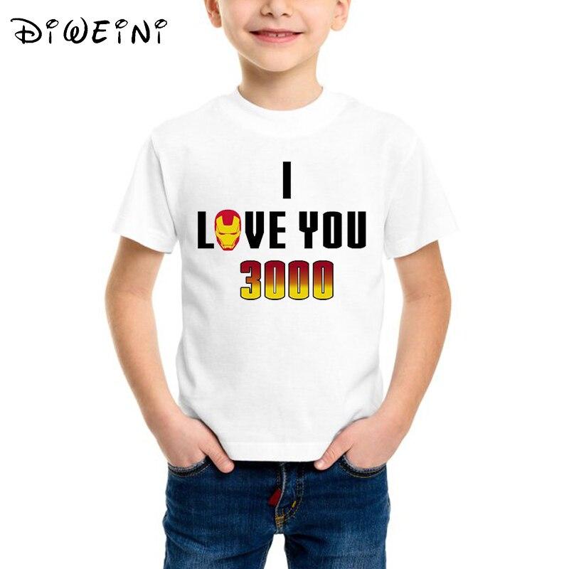 002bcdf234b Cheap Papá te amo 3000 veces los niños camiseta vengadores final bebé niños  T camisa de