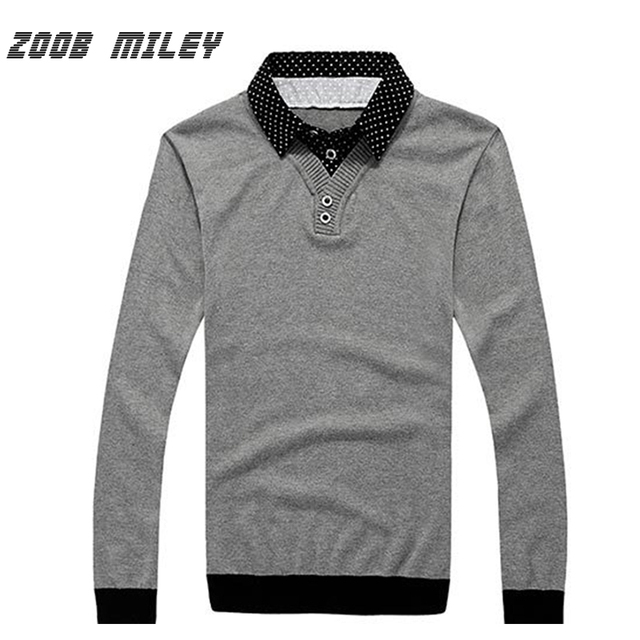 New Arrival Men's Casual Sweaters Warm Fake Two Pieces Pullovers Dress Shirts Collar Lapel Long Sleeve Knitted Jumpers Plus Size