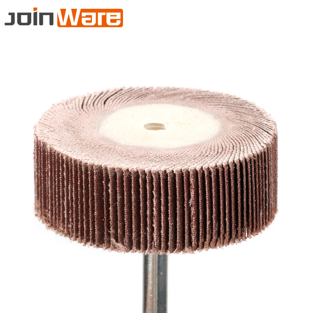 50mm Sandpaper Flap Wheel Sanding Polishing Grinding Disc Rotary Tool 80 120 180 240 320 400 600 Grit 20mm Thick 16Pcs