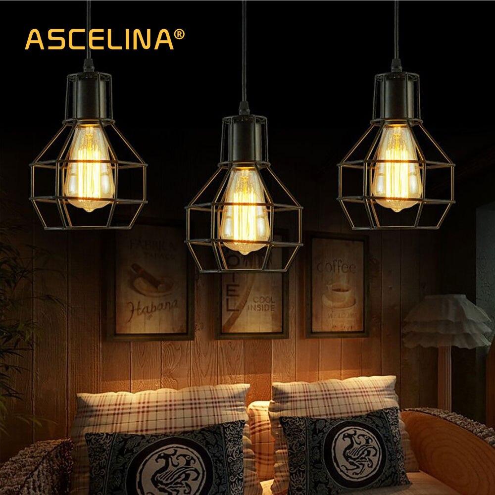 Vintage průmyslový přívěšek Light Loft přívěšek lampy Nordic závěsné žárovky Obývací pokoj jídelna ložnice chodba dekorace světla