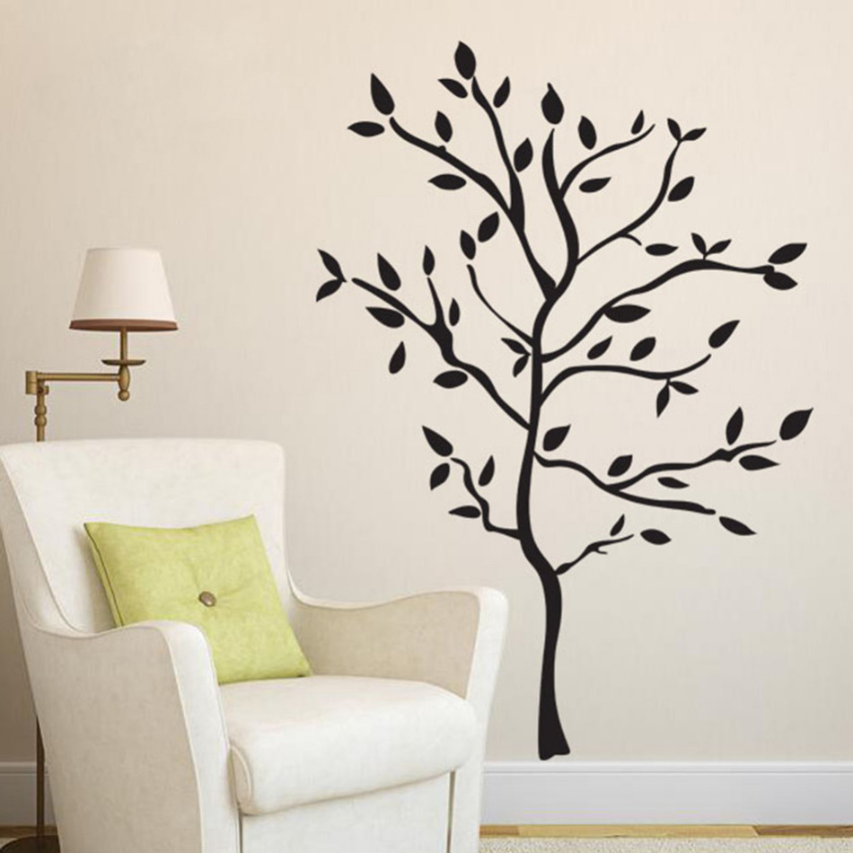 Bathroom wall decor stickers - Home Window Door Sticker Tree Wall Stickers Decoration For Living Room Bedroom Bathroom Wall Art Decor
