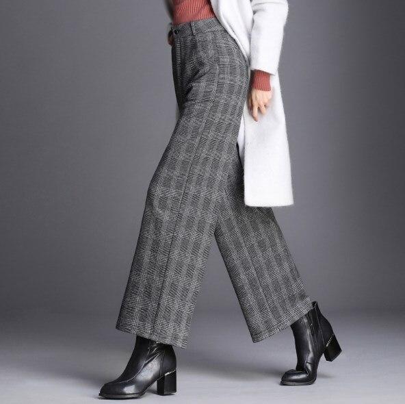 Tamaño Mujer 2019 Gris Alta Cintura Plus Ancha Plaid Otoño Mujeres Pantalones Suelto Recto Primavera 5xl Pierna Elegante De pYq4FrYwZ
