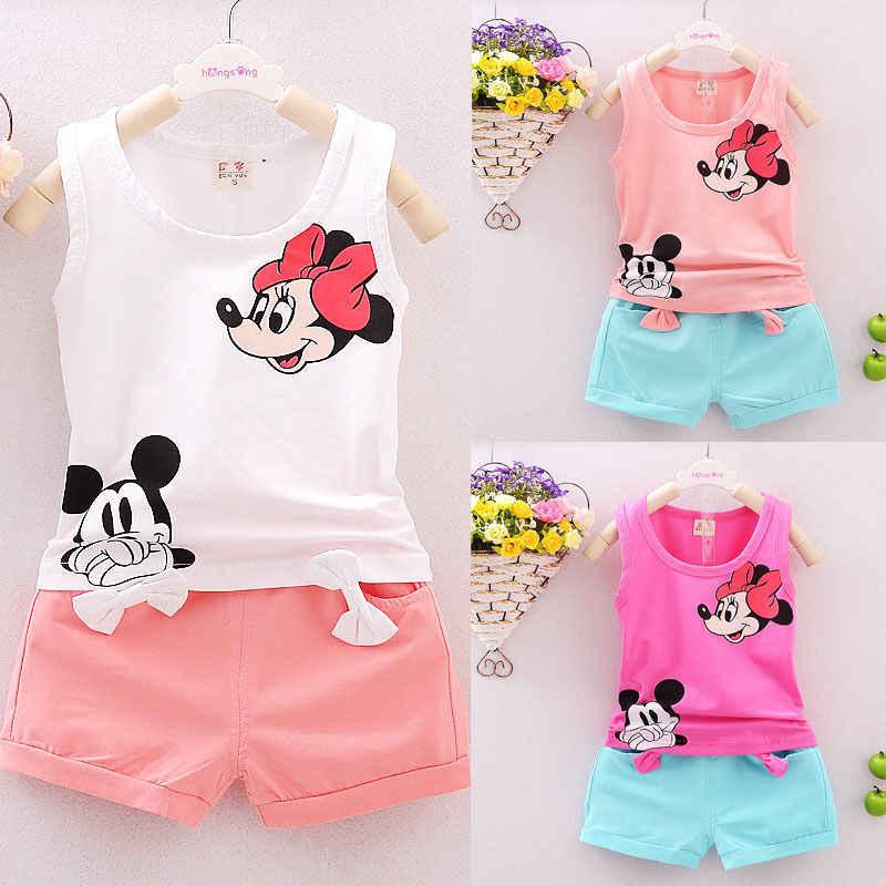 c1138202da07c Vest Top + Shorts Pants Set Clothes Girl Outfits 1 2 3 4 Years Summer 2PCS