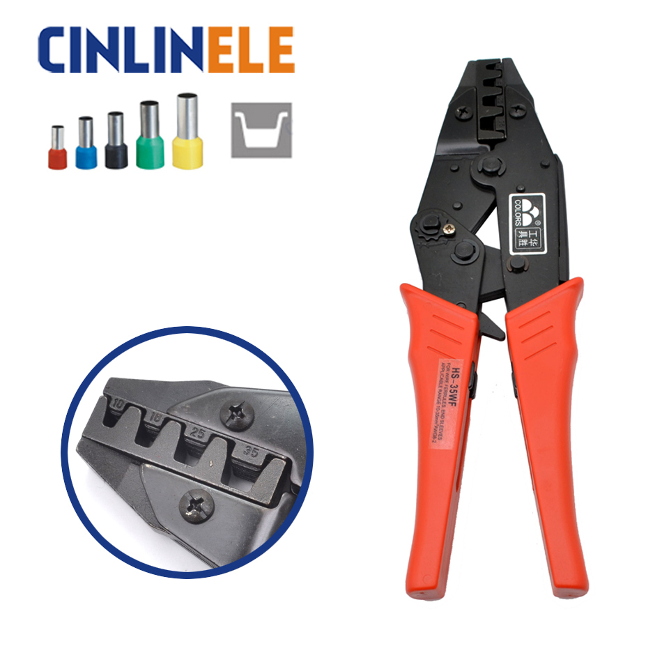 HS-35WF 10 15 25 35mm 7-2AWG Crimp Pliers Multi Hand Tools Large size Tube Bootlace Terminals Crimping alicate 9 Inch