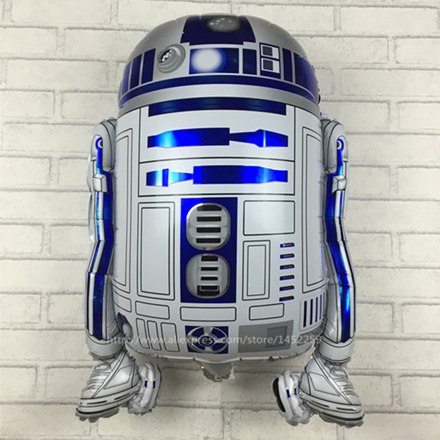 XXPWJ Free shipping Star Wars Globos R2-D2 Foil Balloons Party Supplies Helium Balloons Kids Toys Gifts R-020