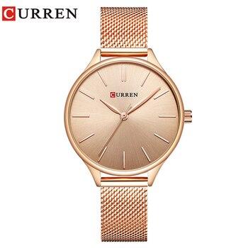 CURREN 9024 Watch Women Casual Fashion Quartz Wristwatches Creative Design Ladies Gift relogio feminino дамски часовници розово злато