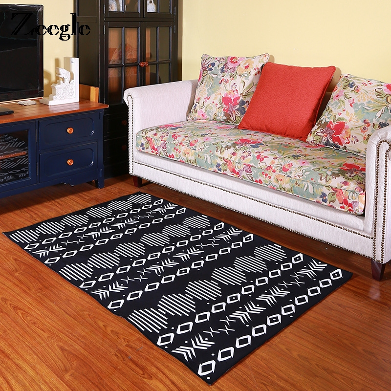 Zeegle Geometric Carpets For Living Room Anti-slip Tea Table Floor Mats Home Bedroom Are ...