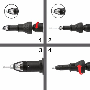 Image 5 - DEKO Classic model  power drill Nut Gun Riveting Tool Cordless Riveting Drill Adaptor Insert Nut Tool Riveting Drill Adapter