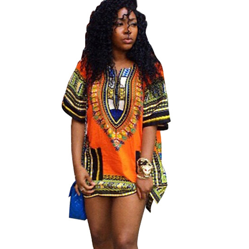 online shop summer loose casual mini dress plus size o-neck short