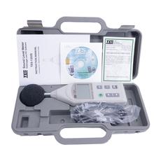 TES-1352S cyfrowy miernik poziomu dźwięku db tester 30dB do 130dB USB podłączanie 200M zapisy rejestrowanie danych funkcja tanie tanio MiSery 30 ~ 130dB