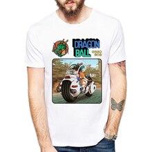 Newest Anime Dragon Ball Printing Men T Shirts Bulma and Son Goku Funny T Shirts Top