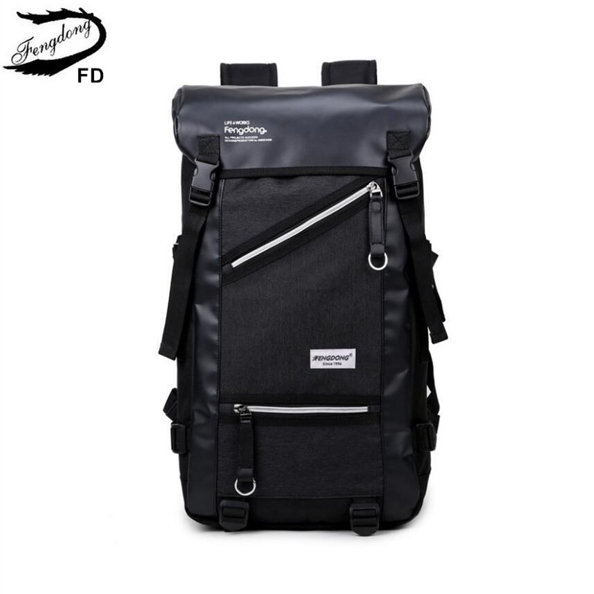 FengDong big size boys black usb backpack men travel bags male large laptop bag 15.6 college student school backpack for boy men original leather fashion travel university college school book bag designer male backpack daypack student laptop bag 9950
