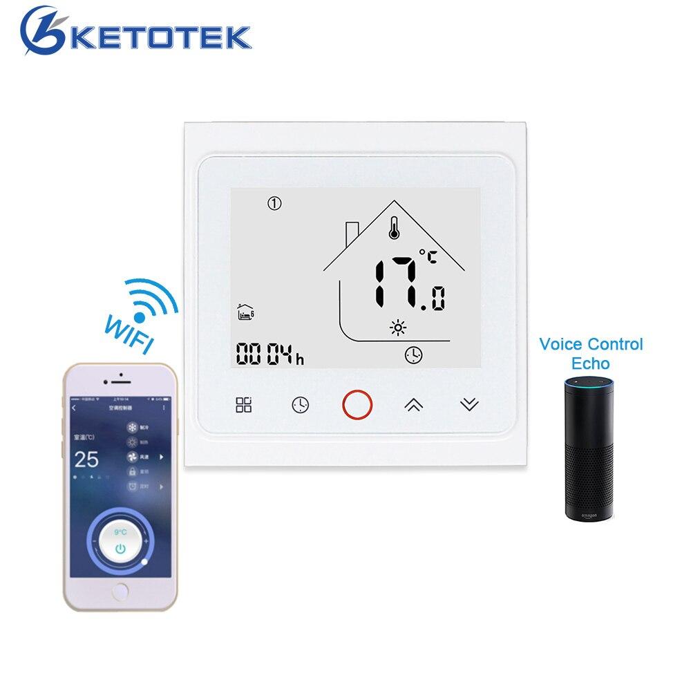 App contrôle intelligent WIFI Thermostat eau gaz chaudière électrique chauffage par le sol régulateur de température fonctionne avec Alexa Google Home