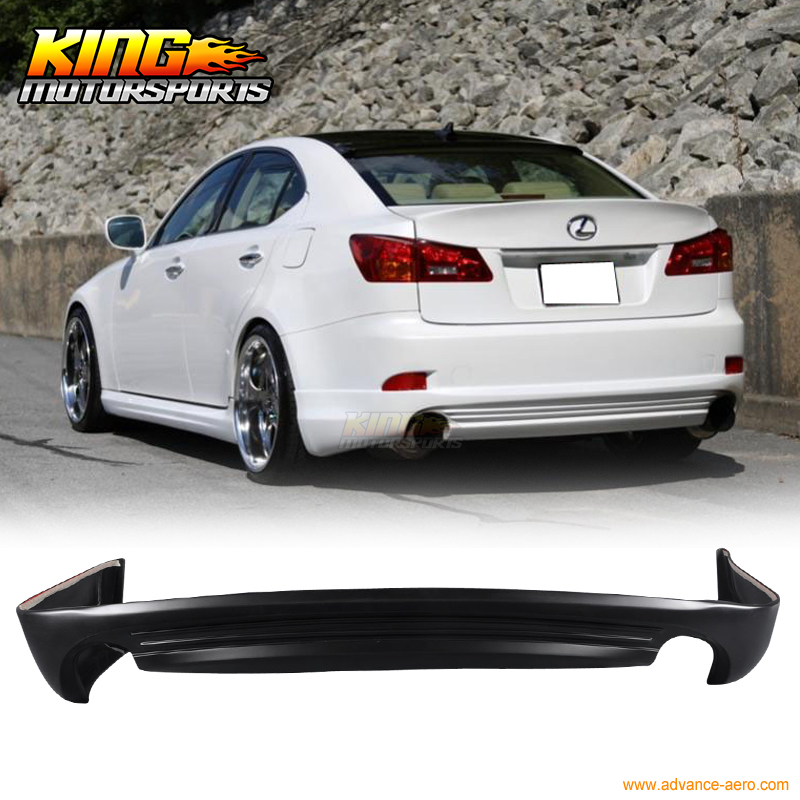 FIT 06-13 LEXUS IS250 IS350 4DR IN-S STYLE POLY URETHANE REAR BUMPER LIP цены онлайн