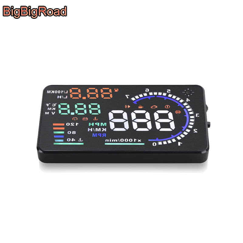 BigBigRoad For Mitsubishi Montero Mirage Triton Pajero Sport ASX Lancer L200 Car HUD Head Up Display