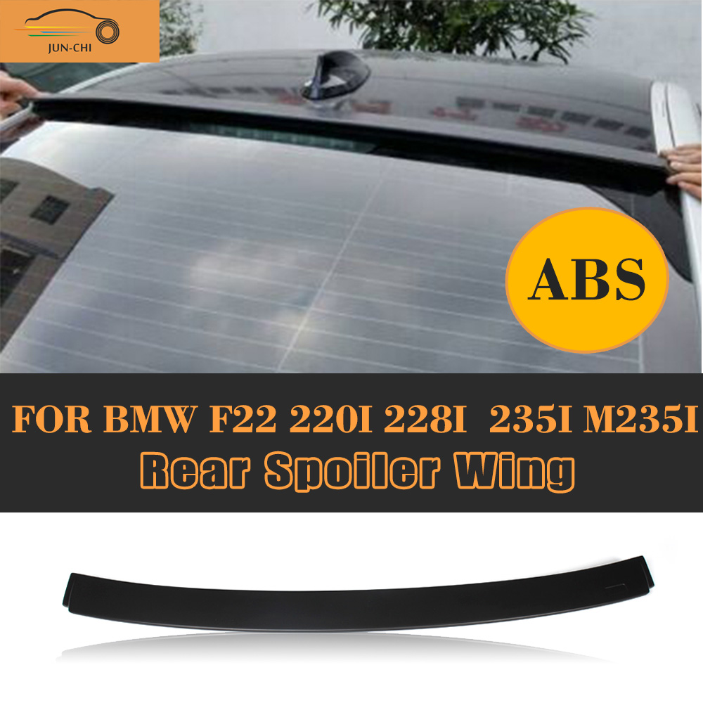 2 Series Rear Roof Trunk Spoiler Car Tail Roof Window Lip Wing for BMW F22 F87 M2 Coupe M Sport 220i M235i M240i 14-17 Black ABS abs rear trunk spoiler wing lip for bmw 2 series f22 228i m235i 220i 2014 2015 car styling