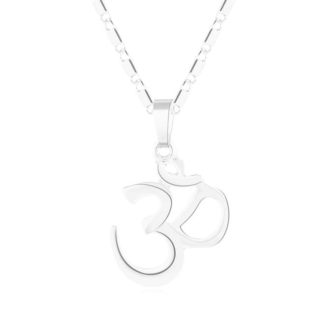 SONYA or/argent couleur hindou bouddhiste AUM OM pendentif collier hindouisme Yoga inde sports de plein air chaîne Hindoo Bijoux