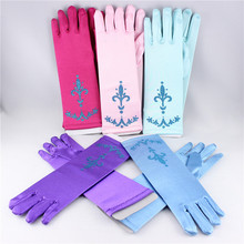 Gloves Elsa Girl's printing Gloves for Evening Dress Children Girls Cosplay Gloves Kids Accessories