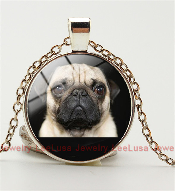 Aliexpress buy wholesale glass dome pendant animals jewelry wholesale glass dome pendant animals jewelry pug necklace pendant glass art picture necklace dog lover mozeypictures Image collections