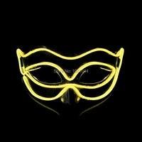 Светодиодный провод для вечерние Rave DJ мероприятие клуба вечерние маска 50 шт светящиеся маска Китон питание by2 AAA батареи
