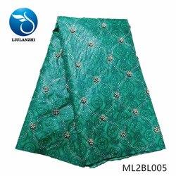 LIULANZHI afryki wosk tkaniny bawełna ankara wosk tkaniny 6 metrów oferta specjalna wosk drukuje z koralikami i kamienie ML2BL001-ML2BL008