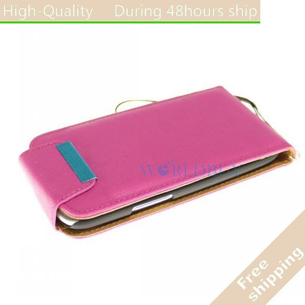New Leather Flip Credit Card Case Cover For Samsung Galaxy S3 III i9300 Free Shipping UPS DHL EMS HKPAM DD-75
