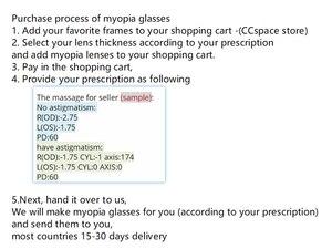 Image 2 - คู่เลนส์Anti Blue Ray Asphericเลนส์Prescriptionสายตาสั้นแว่นตาPresbyopiaเลนส์ป้องกันรังสี1.56 & 1.61 & 1.67 Index