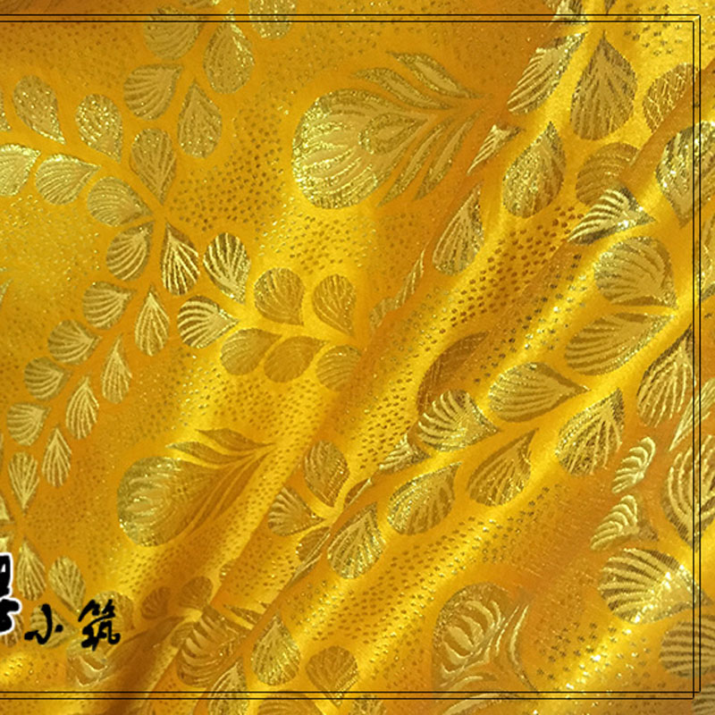 Woven gold cloth cheongsam costume kimono advanced cos clothes Metallic Damask Fabric Wide 1 5 meters in Fabric from Home Garden