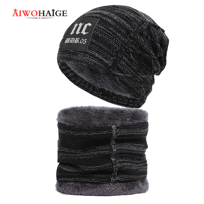 2019 Winter Hat Thick Men Hat Beanies Cap Men's Winter Caps Toucas Gorros Stylish Skullies Beanies Winter Hats Man Thick Warm
