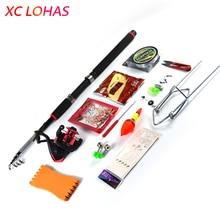 Big discount 16 Kinds Fishing Rod Set 2.1m-3.6m Rod Metal Reel 150m Fishing Line 2 Explorer Hooks Grain Lure Rod Frame FIshing Accessories