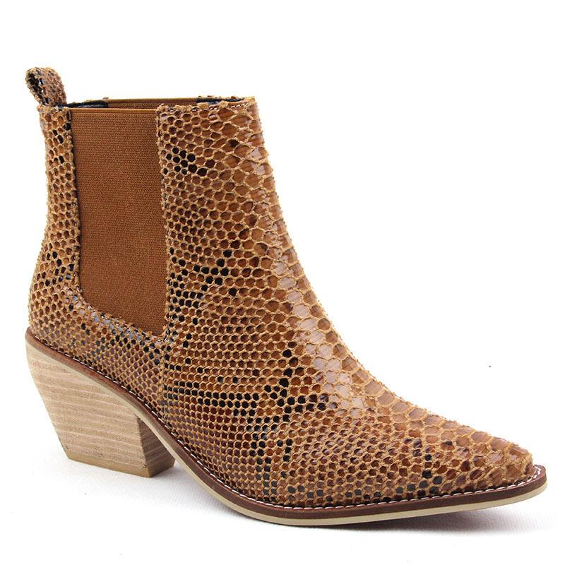Fashion Spring/Autumn Women Shoes Cowgirl Boots Winter Western Cowboy  Ankle BootsPointed Toe Leather Shoes Woman booties