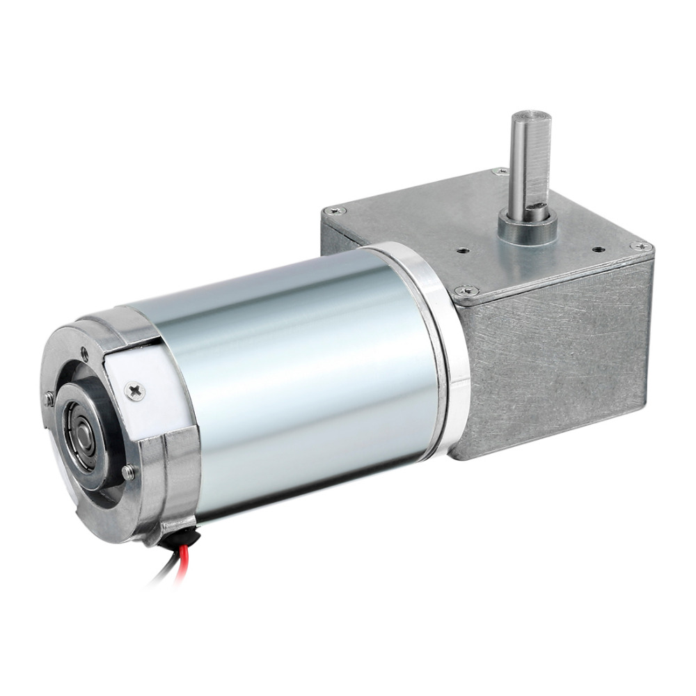 UXCELL High Quality DC 24V 1.9A 200RPM 8kg.cm Gear Box Electric Motor High Torque Electric Reduction Motor