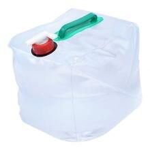 10l/20l pvc grande dobrável dobrável saco de água potável garrafa do recipiente do portador de água para o piquenique do acampamento ajustar o fluxo da água